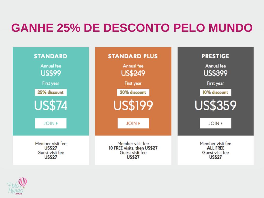 PRIORITY PASS - DESCONTOS DE 25% PELO MUNDO