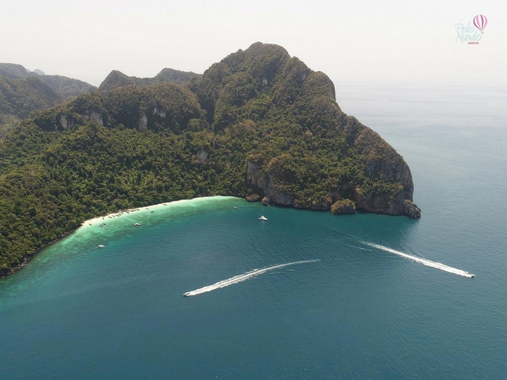 IMAGEM AEREA Phi Phi island