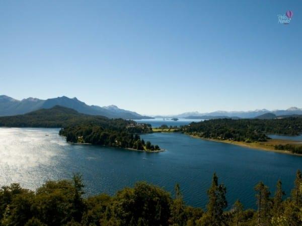 vista do nahuel haupi Vista do lago bariloche