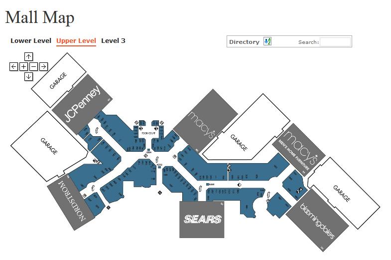 Mapa do Aventura Mall