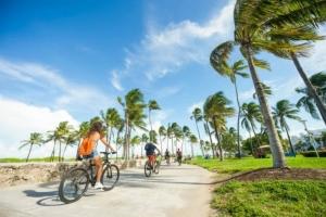 Passeando de bicicleta em Miami