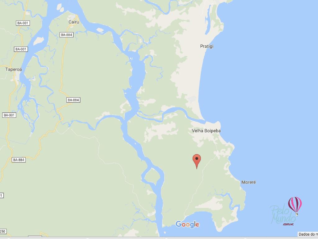 mapa da ilha de boipeba