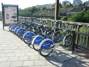 Bicicletas em Estocolmo . Stockholm meio de transporte