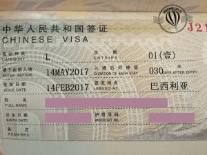 Visto para China