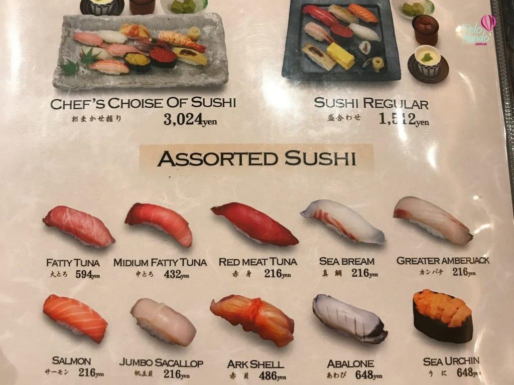 sushi em Ueno