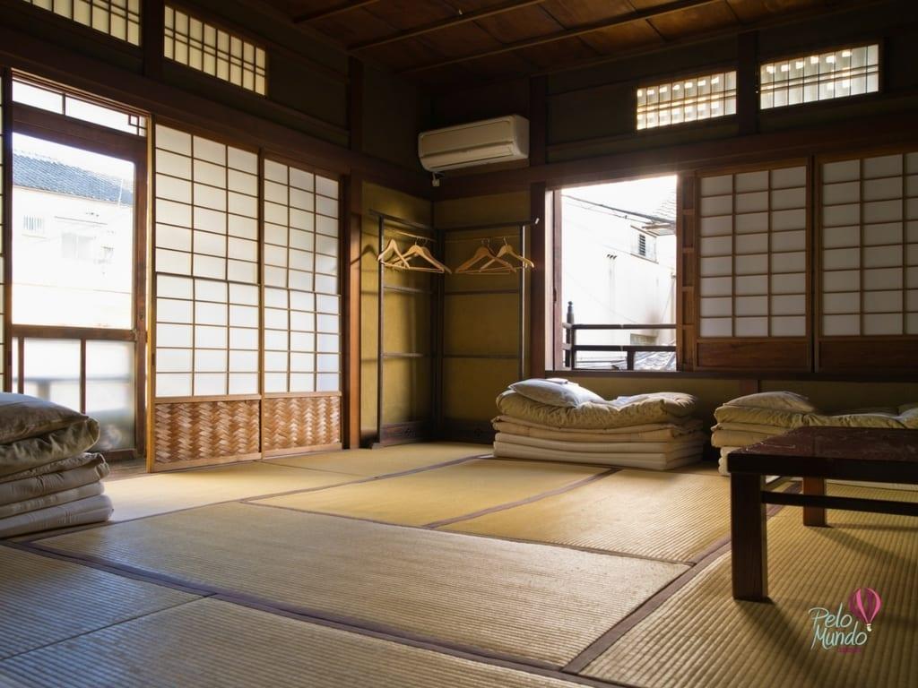 Tóquio por bairros: Quarto Ryokan