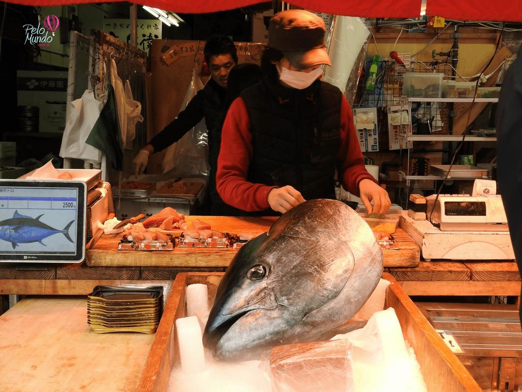 Tsujiki fish market tuna