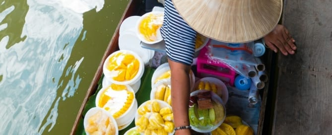 Floating Market - Mercados flutuantes