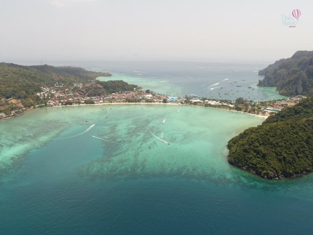 vista da ilha de Phi Phi na Tailandia