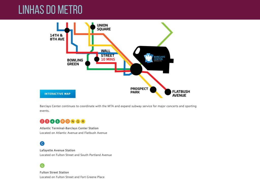Como ir para o Barclays center de metro